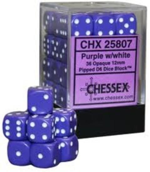 Dados Chessex 36 D6 12mm