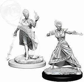 Nolzur's Marvelous Miniatures: Female Fire Genasi Wizard