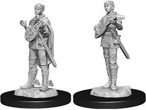 Nolzur's Marvelous Miniatures: Female Half-Elf Bard